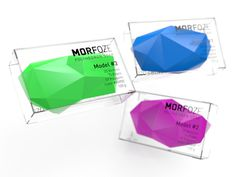 MORFOZE PolyhedronSoap The Dieline #blue #soap #lilac #green