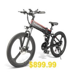Samebike #LO26 #Moped #Electric #Bike #Smart #Folding #Bike #E-bike