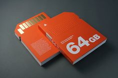 """64GB"" 64 Eminent Creatives from Great Britain #64 #design #orange #book #gb #editorial"
