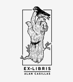 ex libris, stamp, logo, book