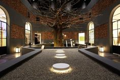 CJWHO ™ (Modular | Modular showroom) #tree #design #interiors #wood #photography #architecture