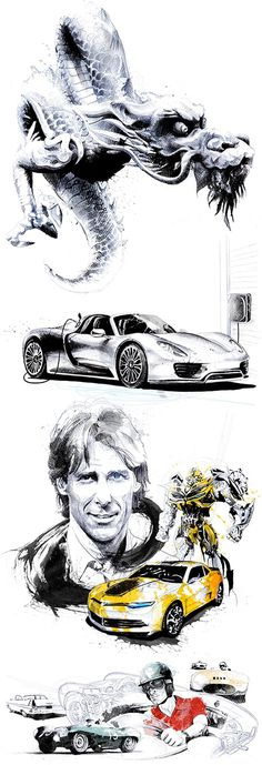 David Despau / Personal research Cars, a dragon and a robot... Here are the last personal creations of David Despau. David is available in A