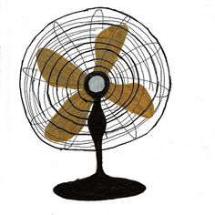 fan | Flickr: Intercambio de fotos #ventilador #aijon #verano #illustration #calor #vintage #summer #fan #jorge