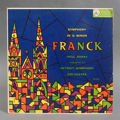 Mid Century Modern Franck Record cover by George Maas #geometry #modern #church #record #cover #lp #mid #century #maas