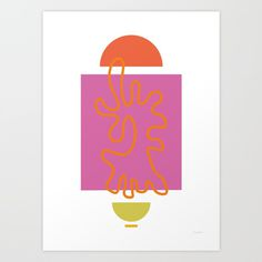 ono uno • 'a walk' Art Print
