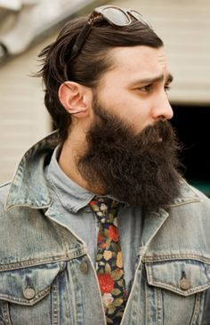 Facial Awareness #man #beard #jeans