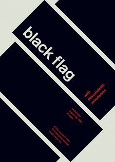 black flag at the cuckoo's nest, 1981 - swissted #print #design #graphic #poster