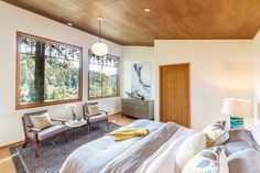 Russian River Cabin with Mid-Century Modern Design 11