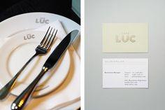 Design Work Life » here design: Café Luc Identity #identity