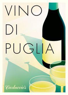 Carluccio's Puglian wine posterIrving #italy #poster