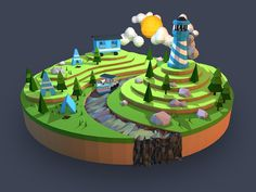 Low Poly Camping Landscape #camping #landscape