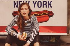 FFFFOUND! | (via Karlie Kloss for Free People January 2012 by... - Quite Continental #sexy #woman #dog #hot #york #female #new