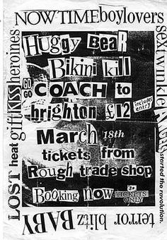 Bikini Kill-Huggy Bear @ Brighton England 3-18-93