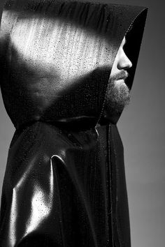 Dystopian Brutalist Outerwear by Martijn Van Strien_4 #fashion #man #wet #black