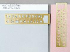 Present&Correct - Stencil Bookmark #stencil