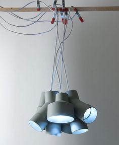 Lamps Inspired By Industrial Tubes -  #lamp, #design, #lighting, #productdesign, #industrialdesign, #objects,