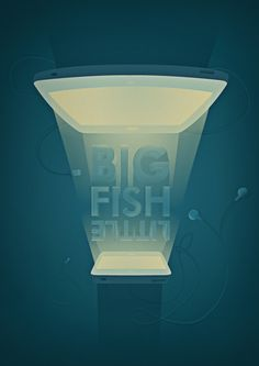 There's always a bigger fish #ipad #design #graphic #iphone #illustration #type #light #editorial #cable #typography
