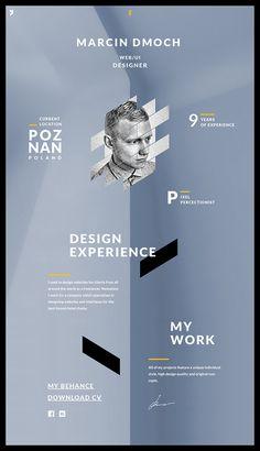 About subpage - mdmoch.com #inspiration #oblique #portfolio #design #subpage #about #webdesign #dmoch #web