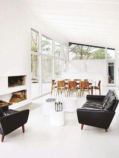 black leather sofas sfgirlbybay design & lifestyle blog #interior #design #decor #deco #decoration