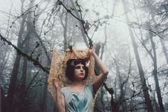 Untitled | Flickr - Photo Sharing! #old #fog #girl #woods #honeyuck #film #blue #50s