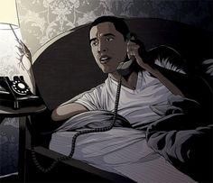 Chicago Magazine : Ghostco #illustration #ink #obama