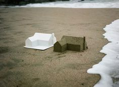CJWHO ™ (A Sand Castle Suburb Consumed by the Ocean   Chad...) #creative #ocean #clever #design #landscape #photography #sand #art #castle