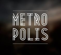 Metropolis 1920 on the Behance Network #font #lettering #line #metroplis #typeface #typography
