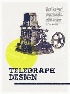 Telegraph Design Poster #design #graphic #telegraph #vintage #poster
