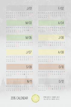 2015 Calendar by iamthelab.com