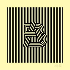 Interweaving strands making type #illustration #poster #line