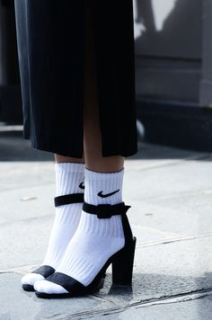 MOONMUD #socks #nike #heels #sandals