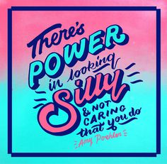 Studio Animaux Circus made these awesome quotes for AIGA's Eye On Design Blog. #quote #typography #lettering #type #aiga #amy #poehler