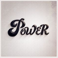 Power #melissa #power #design #morano #photoshop #art #typography