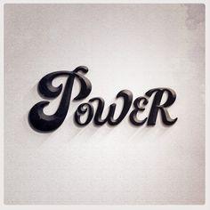 Power #melissa #power #design #morano #photoshop #art #typography