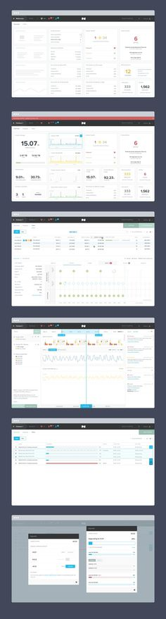 Nutanix Design iterations by Jeremy Sallée ✦✦✦ #ux #design #ui #admin #template