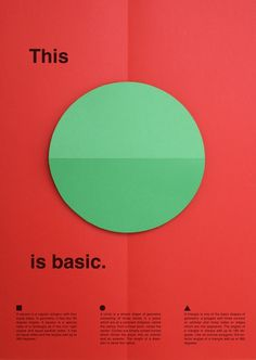 thisisbasic_posters_circle #fold #color #minimal #poster #paper