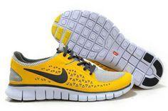 Nike Free Run Running Shoe Grey Varsity Yellow Black Mens #shoes