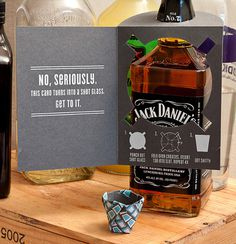 The Birthday Card that Turns into a Shot Glass | Man Made DIY | Crafts for Men | Keywords: birthday, card, shot, spirits #glass #shot