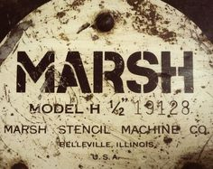 MARSH Stencil Machine #lettering #logo #stencil #vintage #type