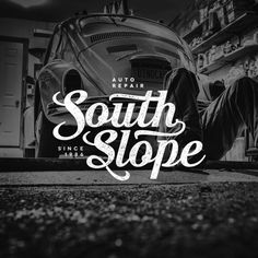 South Slope Auto Repair Logo #lettering #design #logo #hand #typography
