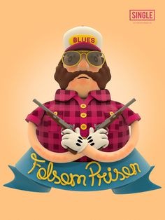 Todos os tamanhos | Folsom Prison Blues | Flickr – Compartilhamento de fotos! #estdio #design #alice #lp #illustration #poster #music #brazil #3d