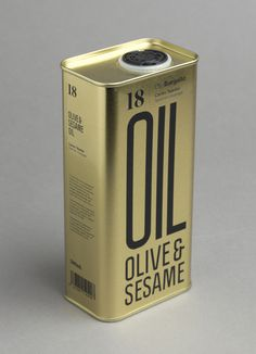 Packaging for Olive & Sesame Oil by Lo Siento