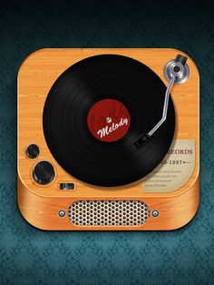 Record Player on the Behance Network #icon #ios