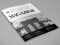Minimal Black & White Magazine. #magazine #editorial #mag #minimal #inspiration #creative #template