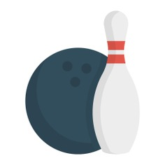 See more icon inspiration related to game, fun, bowling, sports, bowling pins, leisure and sports and competition on Flaticon.