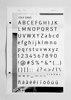 Andrea Carillo Iglesias #type #print #font #poster