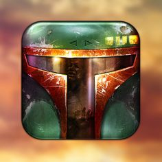 Boba Fett Icon tribute to Star Wars by Danish designer Michael Flarup #icon #app #mobile #iconography