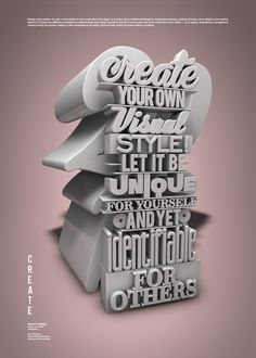 CREATE #2013 #design #quotes #poster #typography
