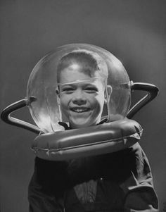 The Fox Is Black » Space Suit of the Week #vintage #black and white #photo #gray