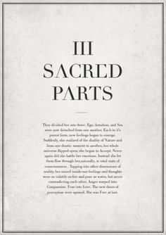 III SACRED PARTS on the Behance Network